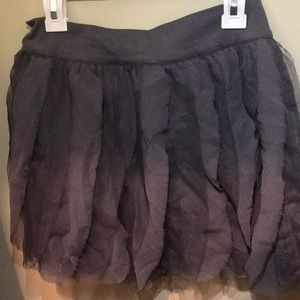 charcoal gray gap skirt